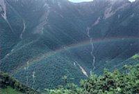 雷雨後の虹